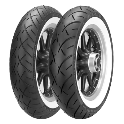 METZELER ME888 MARATHON ULTRA WHITEWALL フロント用 130/90-16 MC 67H TL 2407600 8019227240764
