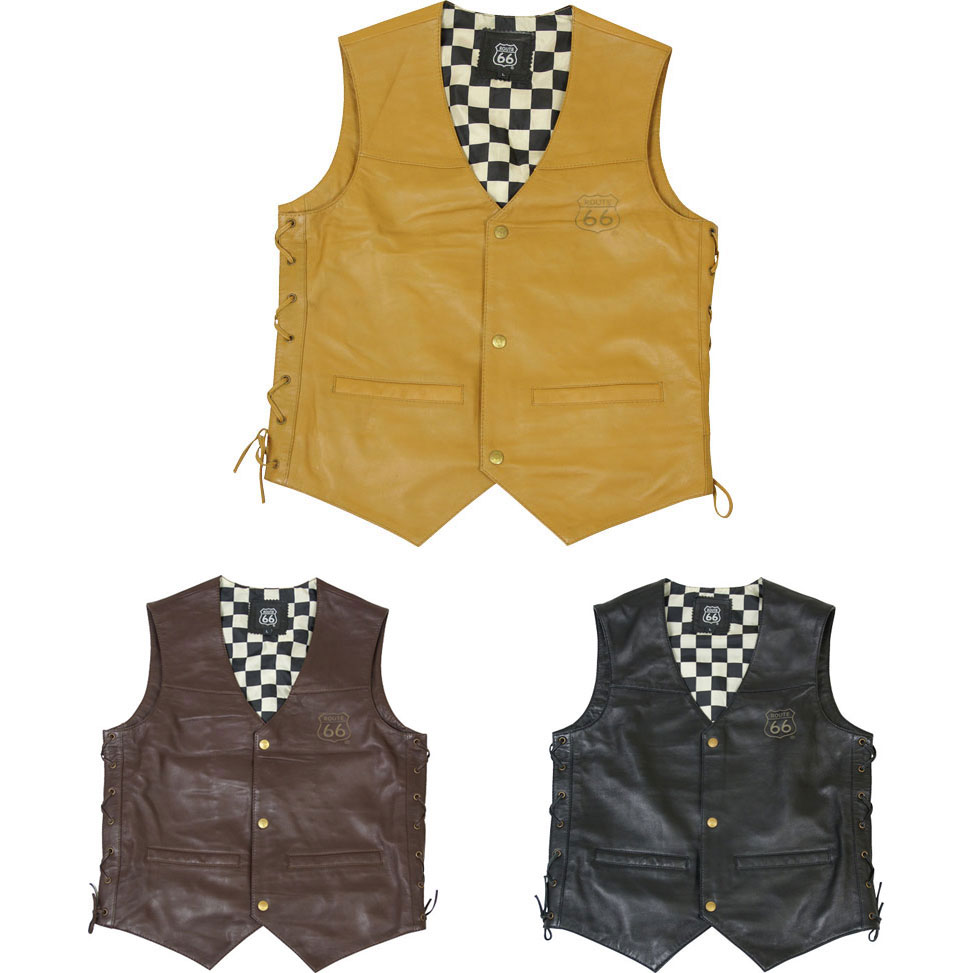 FreeBee 【WEB限定】R66LV-01 COW LEATHER VEST レザーベスト