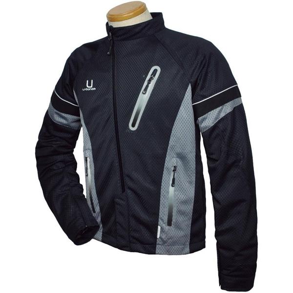 J-AMBLE 【通販限定・超特価!】UNJ-042 アシンメトリーメッシュジャケット ブラック:Mサイズ