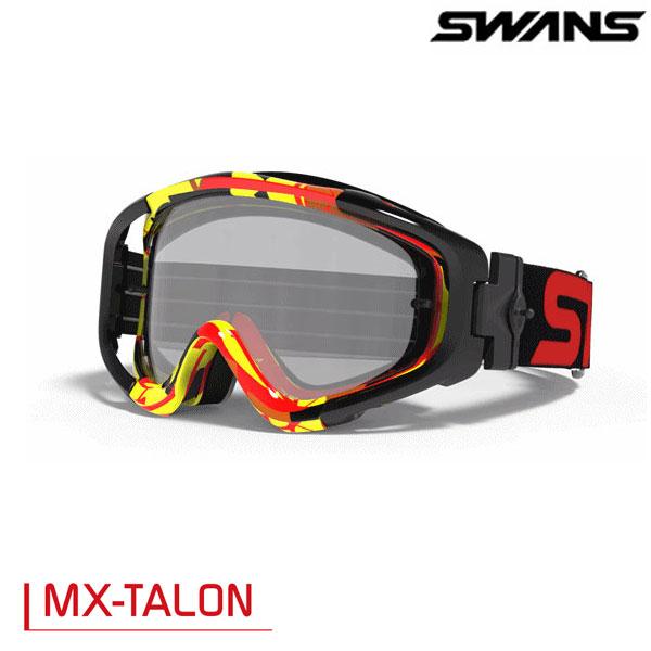 SWANS MX-TALONゴーグル レッド/イエロー(ミラー仕様)