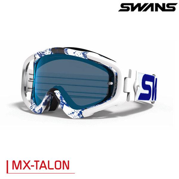 SWANS 〔WEB価格〕MX-TALONゴーグル ブルー/ホワイト(ミラー仕様)