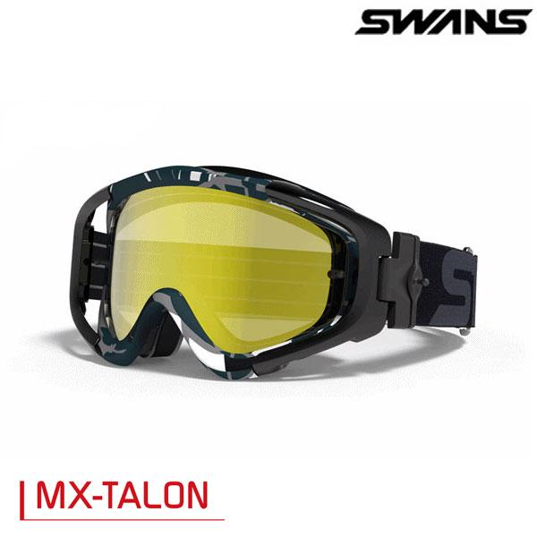 SWANS MX-TALONゴーグル ブラック/グレイ(ミラー仕様)