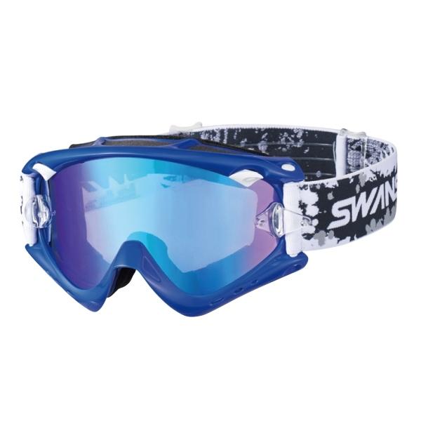 SWANS MX-RUSH-M ブルー(フラッシュブルーミラー×スモーク)