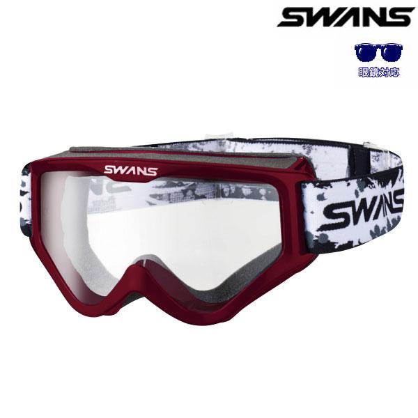 SWANS 〔WEB価格〕MX-797-PET 眼鏡対応モデル ワインレッド(クリアレンズ)