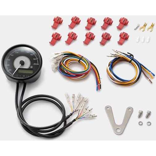 DAYTONA VELONA 電気式スピード&タコメーター 200km/h ステンレスボディ ホワイトLED