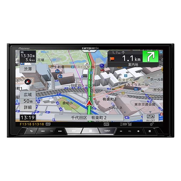 Pioneer 【CYBER NAVI】7V型ワイドVGA地上デジタルTV/DVD-V/CD/Bluetooth/SD/チューナー・DSP AV一体型メモリーナビゲーション