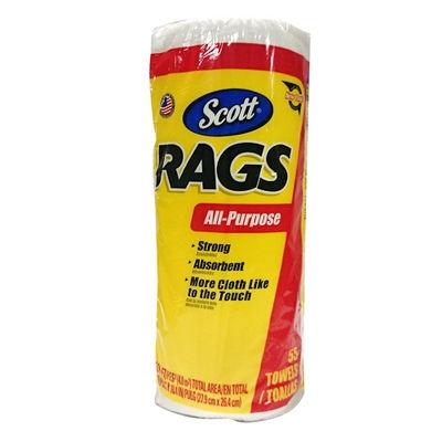 ノーブランド 【EDLP】SCOTT RAGS ホワイトロール 55カット 1ヶ ショップタオル