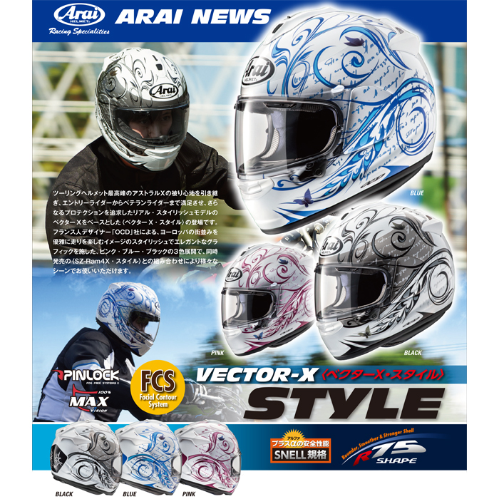 Arai 〔WEB価格〕VECTOR-X STYLE【ベクターエックス スタイル】 フルフェイス ヘルメット