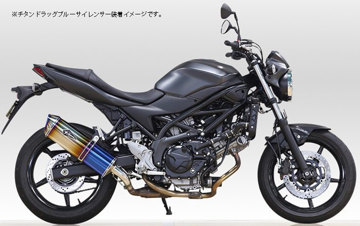 R'S GEAR 【Web会員限定】ワイバンリアルスペック スリップオンマフラー SV650 ABS【通常3-4週間程度】