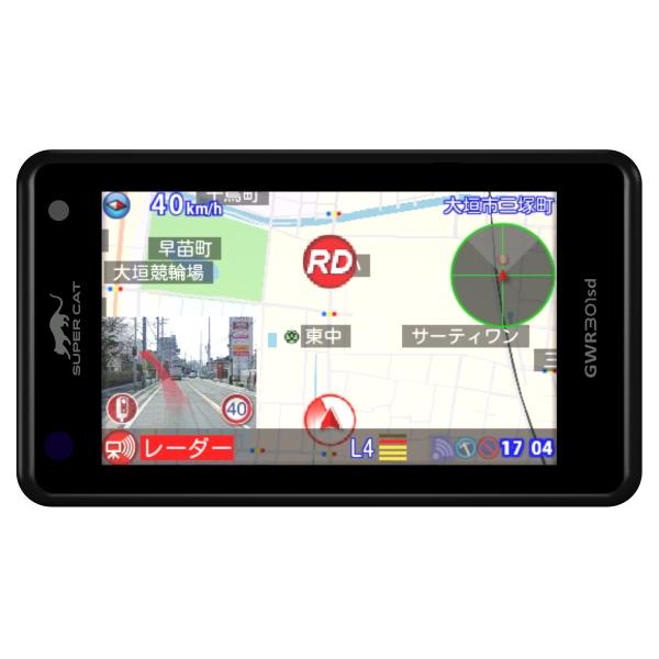 YUPITERU SUPER CAT  GPS&レーダー探知機 GWR301sd【4輪用】