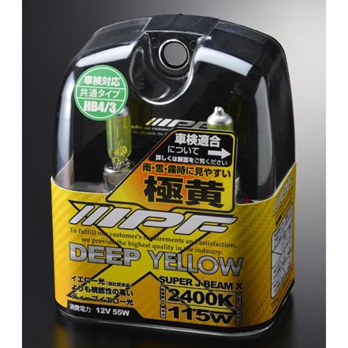 IPF スーパーJビーム ディープイエロー 2400K HB4/3【4輪用】