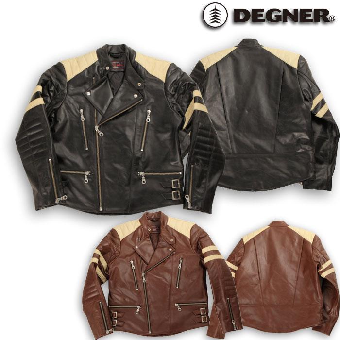 DEGNER 【WEB限定】売り尽くし★HSJ-12 レザージャケット ブラウン Mサイズ