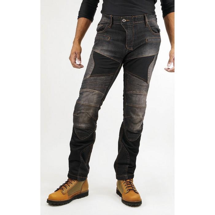 komine 大きいサイズ  WJ-739S スーパーフィット プロテクトメッシュジーンズ ブラック◆全3色◆