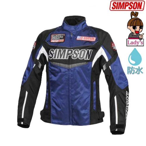 SIMPSON 【WEB限定】【レディース】 SJ-7132L ウインターナイロンジャケット ブルー
