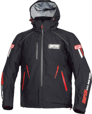SIMPSON ウインターフーデッドジャケット ブラック