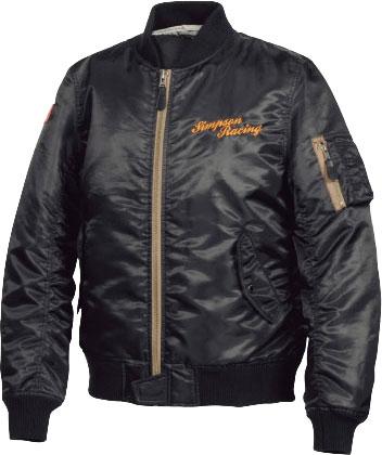 SIMPSON 【WEB限定 ラスト1点】MA-1タイプジャケット(タイトシルエット) ブラック防寒 防風