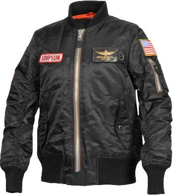SIMPSON レディースMA-1タイプジャケット ブラック
