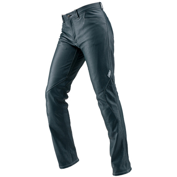 HYOD PRODUCTS 【10月中旬予定】ST-X Lite D3O LEATHER PANTS(RIDE-STRAIGHT) NAVY/WHITE STITCH