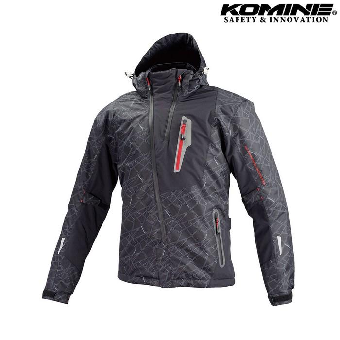 komine JK-589 プロテクトウインターパーカ ジャケット ブラック ブラック◆全6色◆
