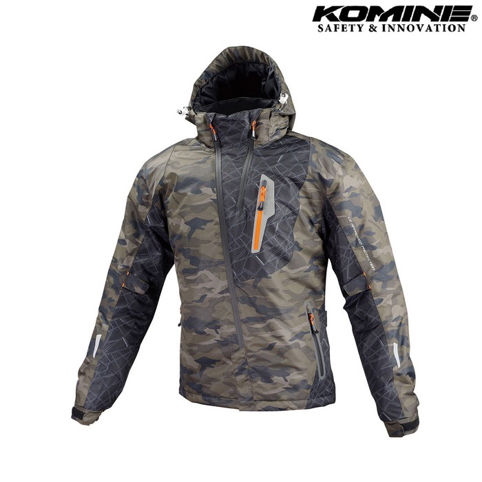 komine 【ウェアアウトレット】個別配送のみ JK-589 プロテクトウインターパーカ ジャケット カモフラージュ