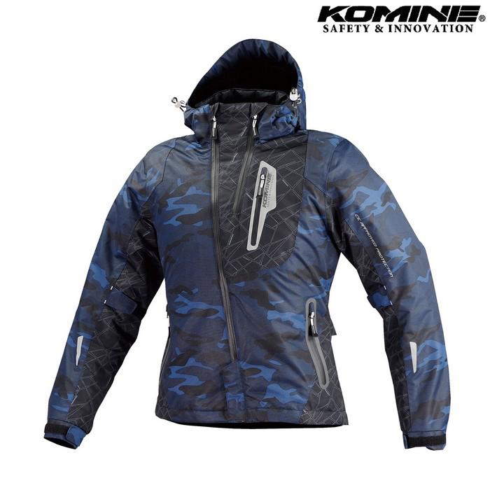 komine JK-589 プロテクトウインターパーカ ジャケット ブルーカモフラージュ ◆全6色◆