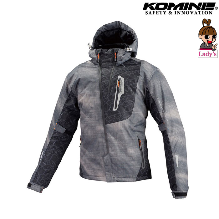 komine レディース JK-589 プロテクトウインターパーカ ジャケット スモーク スモーク◆全6色◆