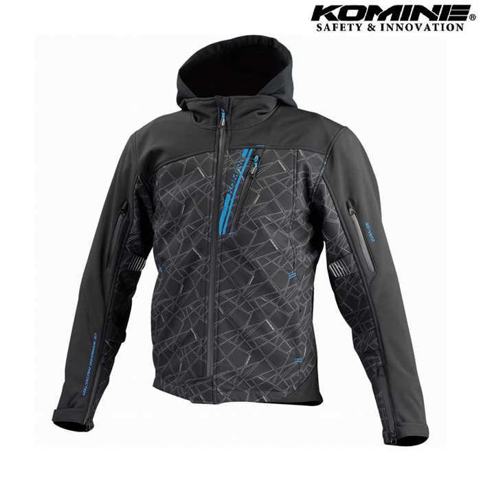 komine 【ウェアアウトレット】個別配送のみ JK-590 プロテクトソフトシェルウインターパーカ ジャケット ブラック