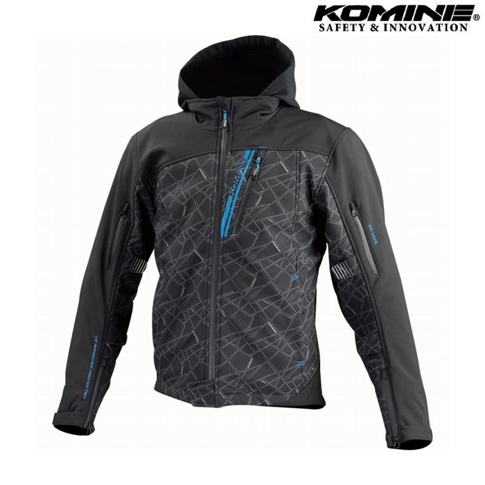 komine JK-590 プロテクトソフトシェルウインターパーカ ジャケット ブラック