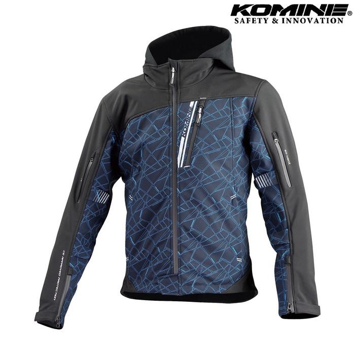komine JK-590 プロテクトソフトシェルウインターパーカ ジャケット クラッシュブルー/ブラック ◆全8色◆