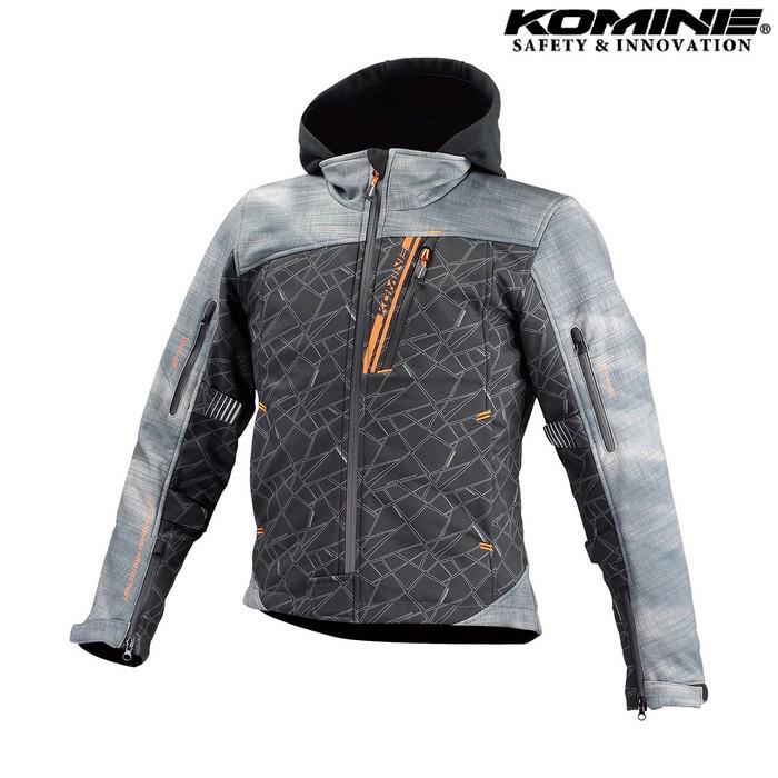 komine JK-590 プロテクトソフトシェルウインターパーカ ジャケット スモーク/ブラック ◆全8色◆