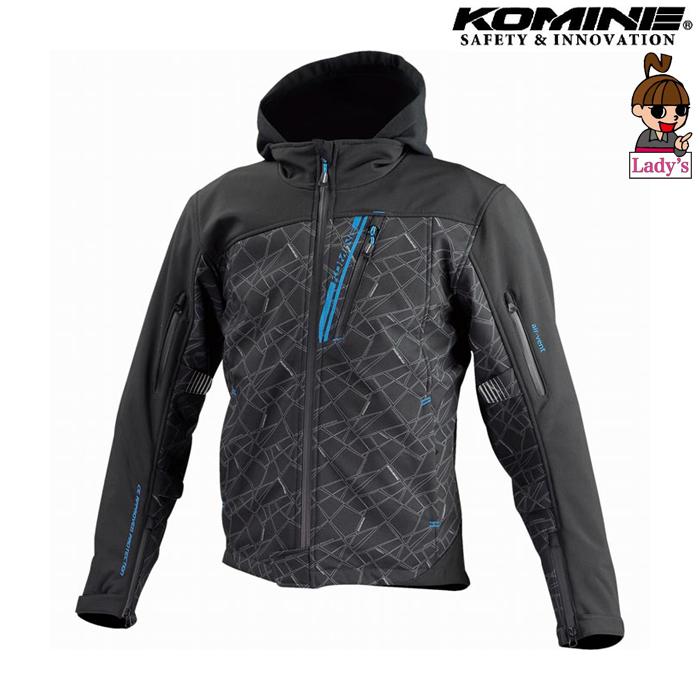 komine レディース JK-590 プロテクトソフトシェルウインターパーカ ジャケット ブラック