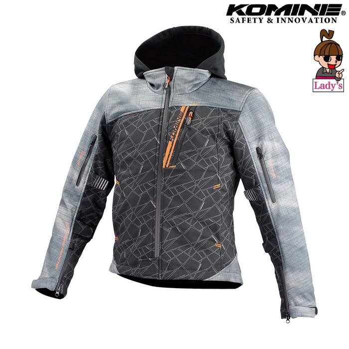 komine (レディース)JK-590 プロテクトソフトシェルウインターパーカ ジャケット スモーク/ブラック ◆全8色◆