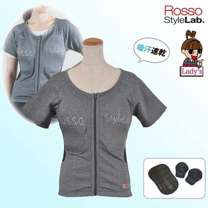 J-AMBLE (レディース)ROPRO-09 レディースプロテクション Tシャツ 吸汗速乾 グレー◆全2色◆