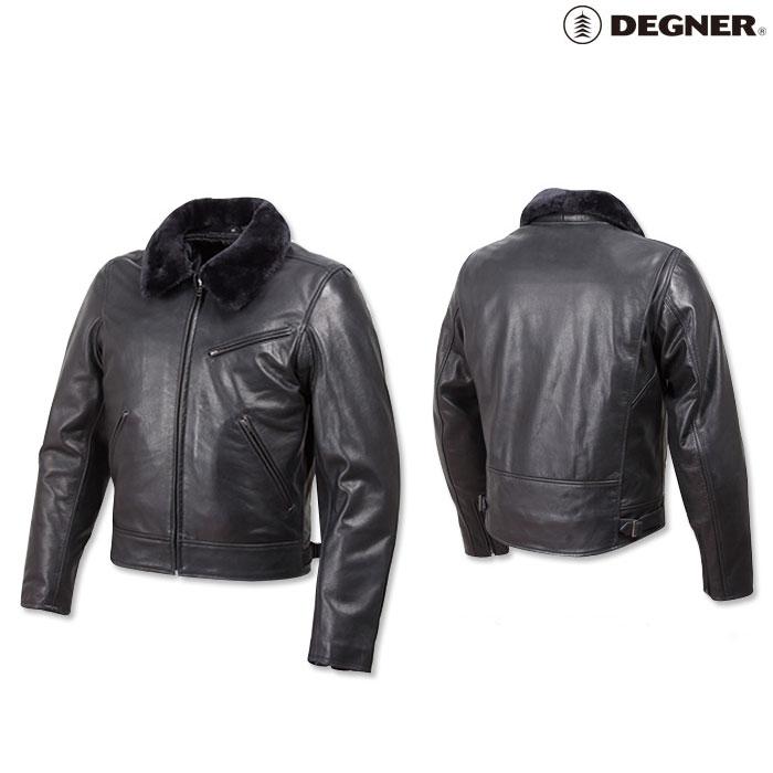 DEGNER 〔WEB価格〕17WJ-4 レザージャケット ブラック
