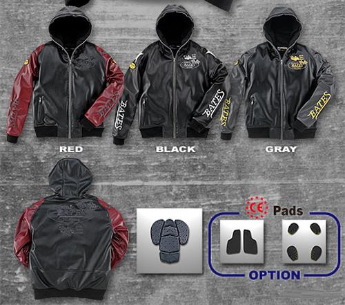 BJ-F1756P 合成皮革パーカジャケット