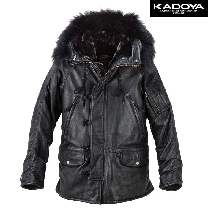 KADOYA N-3R ファー付レザージャケット
