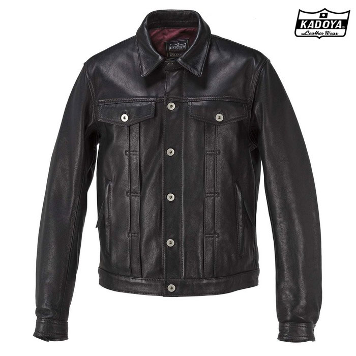 KADOYA 1182 DT-LEATHER JAC 『DTレザージャケット』 ブラック ◆全3色◆