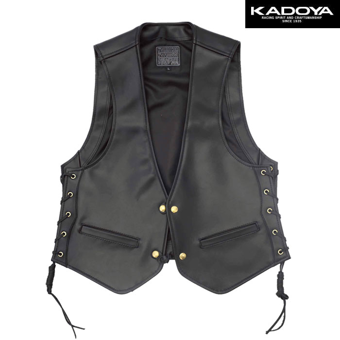 KADOYA 〔WEB価格〕0519 ZC-VEST レザーベスト(ZC ベスト)