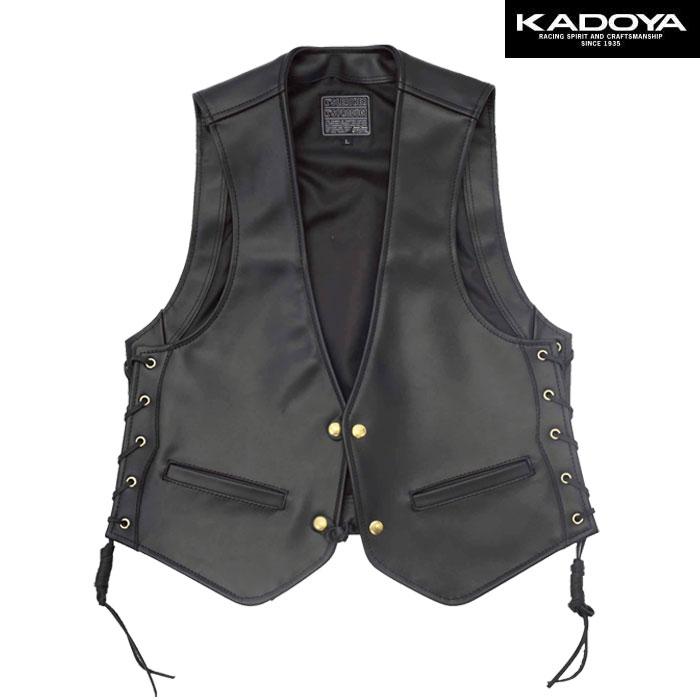 KADOYA 〔WEB価格〕【大きいサイズ】 0519 ZC-VEST レザーベスト(ZC ベスト)