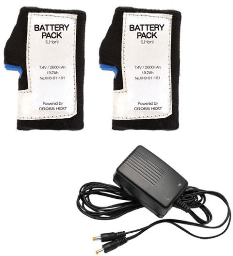 HEATECH 7.4V スペアバッテリー(2個)+充電器セット