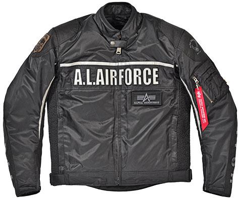 ALPHA ALVA-1701W シングルライダース ウィンタージャケット BLACK