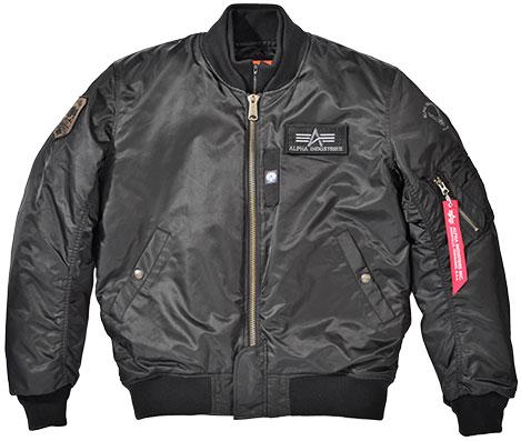 ALPHA MA-1 M/C ウィンタージャケット BLACK