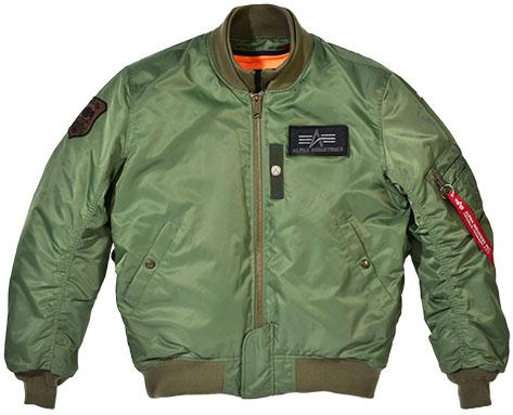 ALPHA MA-1 M/C ウィンタージャケット VINTAGE GREEN