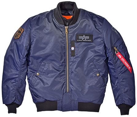 ALPHA MA-1 M/C ウィンタージャケット REPLICA BLUE