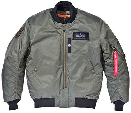 ALPHA MA-1 M/C ウィンタージャケット REPLICA GRAY