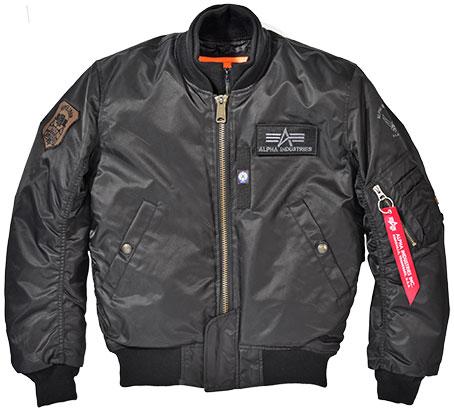 ALPHA レディース MA-1 M/C ウィンタージャケット BLACK