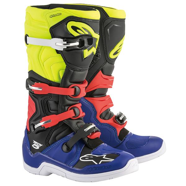 alpinestars 〔WEB価格〕TECH 5 ブーツ ブルー/ブラック/イエローフロー/レッド ◆全5色◆