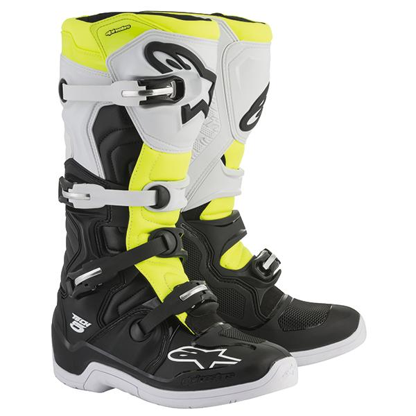 alpinestars 〔WEB価格〕TECH 5 ブーツ ブラック/ホワイト/イエローフロー ◆全5色◆