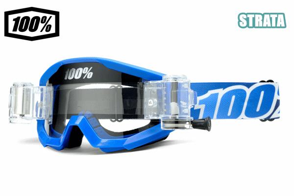 100% 17モデル ゴーグル STRATA 【ストレータ】(ロールオフ付) BLUE LAGOON