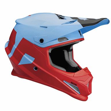 THOR 2018年モデル ヘルメット SECTOR 【セクター】 LEVEL ブルー/レッド